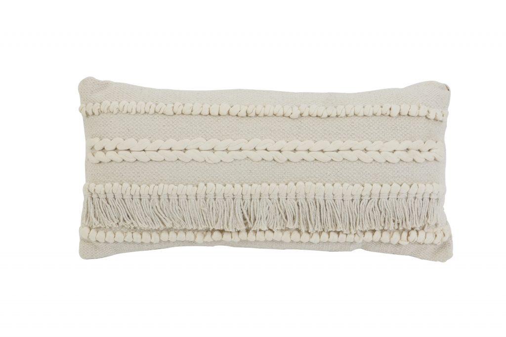coussin d co coussin d co en cotton et jersey tiss s 30x60cm. Black Bedroom Furniture Sets. Home Design Ideas