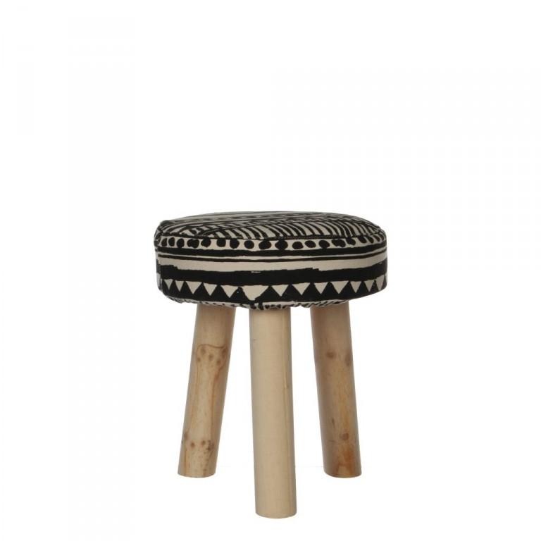 tabouret d couvrez ce tabouret en tissu et pied en bois brut. Black Bedroom Furniture Sets. Home Design Ideas