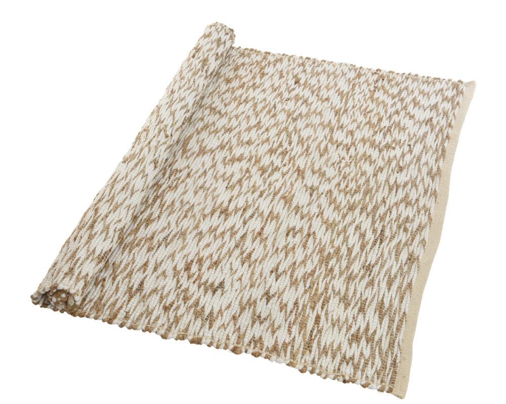 Tapis Jute Tapis Jute Naturelle Et Coton Blanc Apporte Confort Et