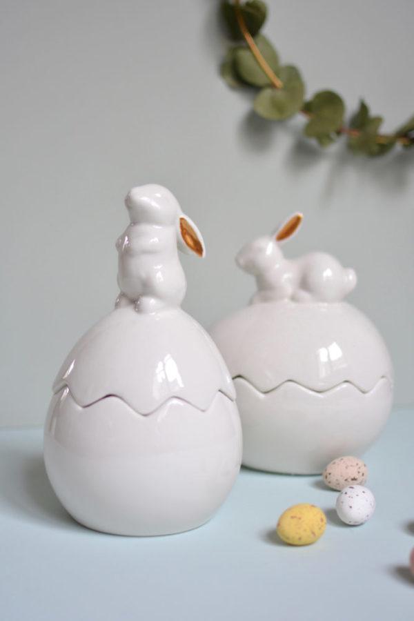 Boites lapins porcelaine