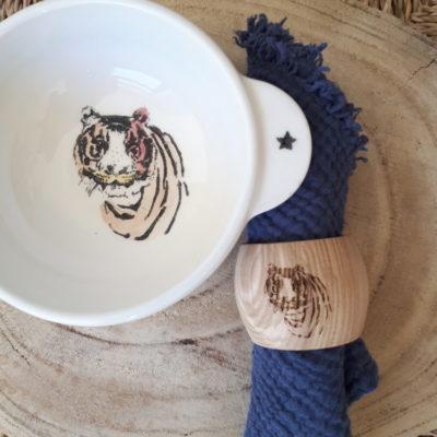 Rond de serviette Tigre