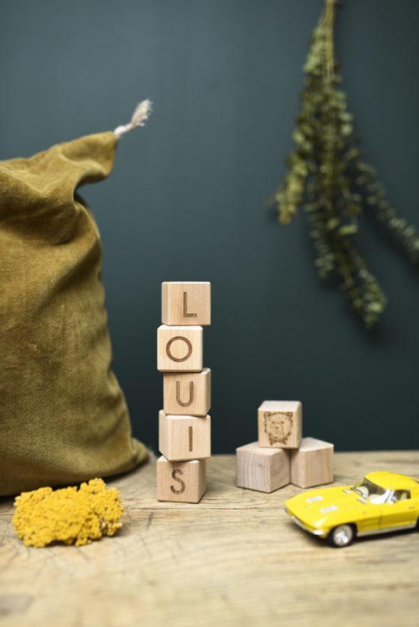 cube lettre personnalise