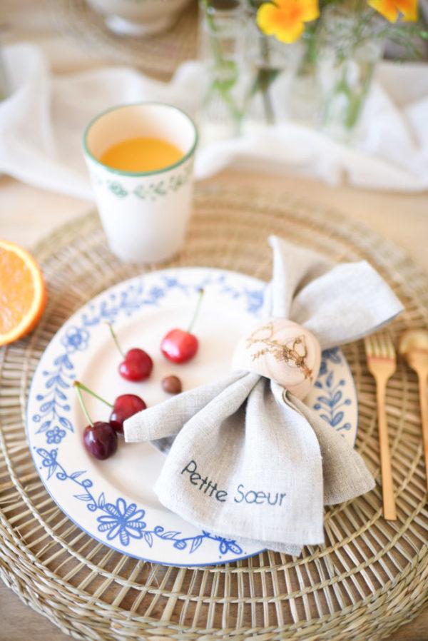 assiette dessert alsacienne couleur