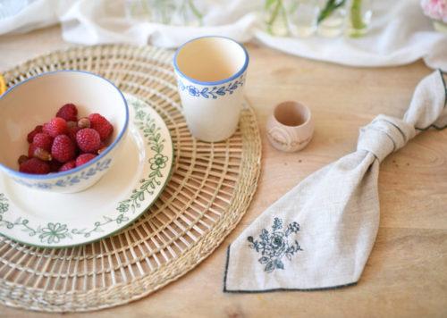 Serviette de table bourdon