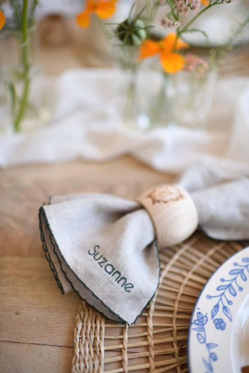 Serviette de table picot