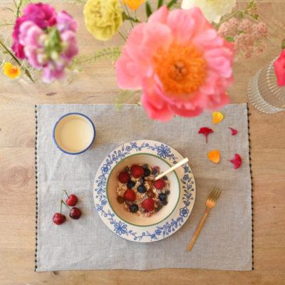 Set de table fleurette