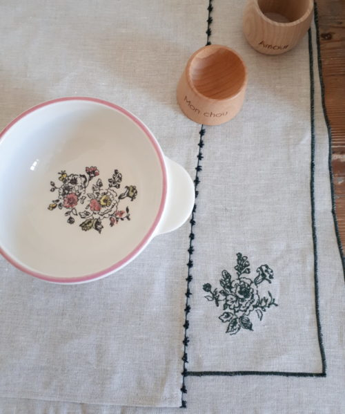 Set de table bourdon fleur