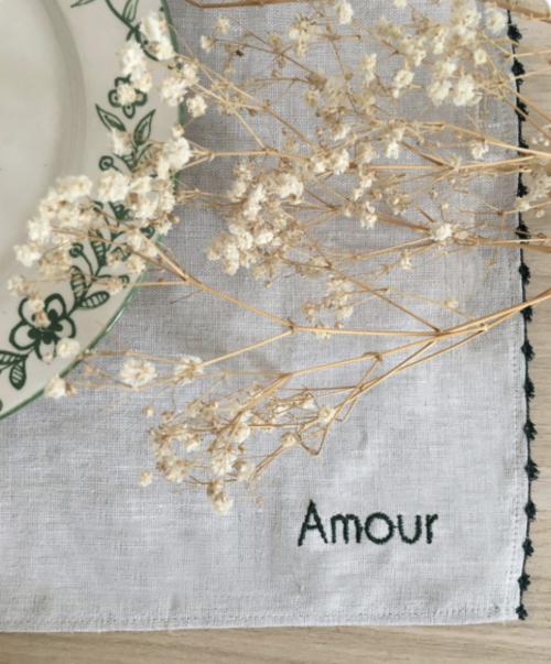 set de table fleurettes