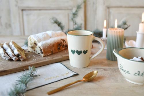 mug personnalisé trois coeurs